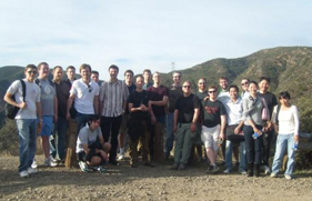 Participants from the 2010 Graduate Workshop explore southern California on a hike
